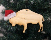 Buffalo Bison Wooden Ornament