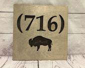 716 Buffalo Rustic Wooden Wall Decor
