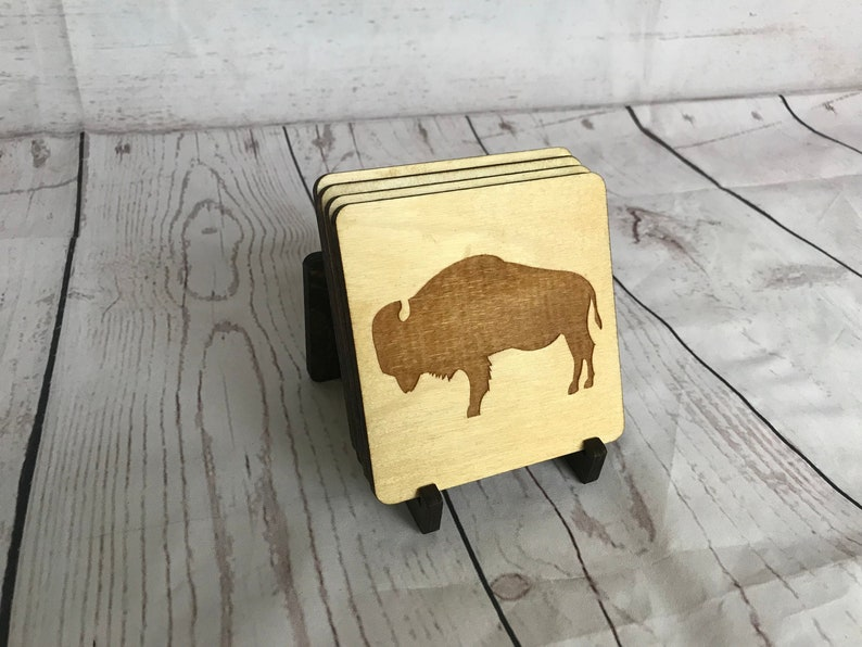Buffalo Wood Coasters image 0