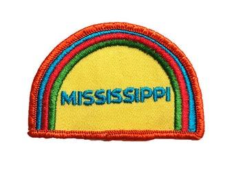 Vintage 1970s Mississippi Sew-on Patch