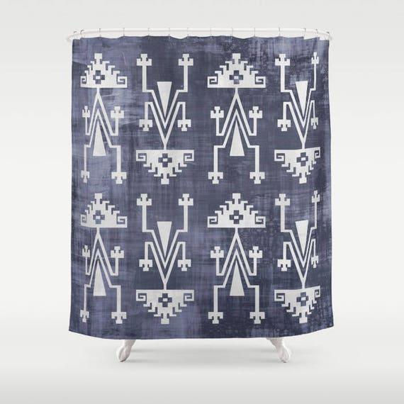 Boho Shower Curtain Tribal Print