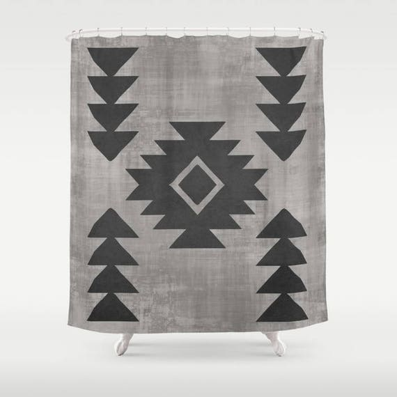 Aztec Shower Curtain Tribal Print Bohemian Bathroom