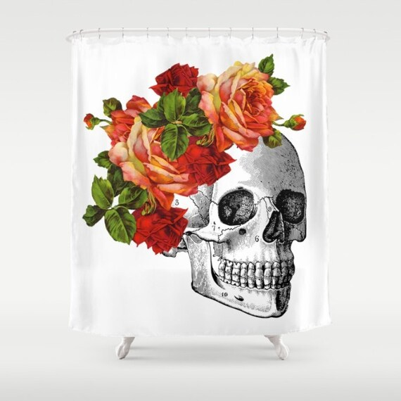 Skull Shower Curtain Day Of The Dead Dia De