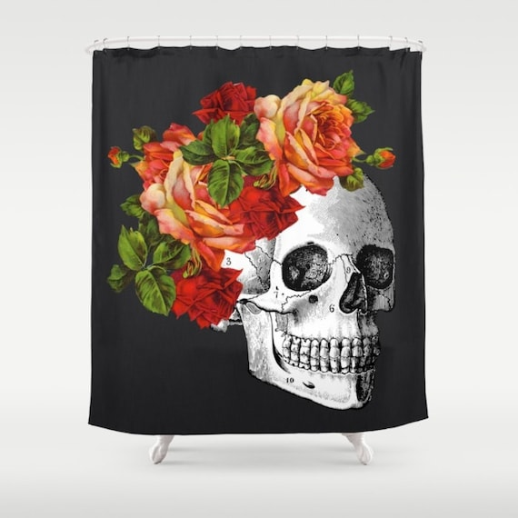 Skull Shower Curtain Day Of The Dead Dia De