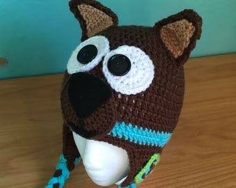 Crochet Scooby-Doo inspired animal character hat ce7201f5ed28