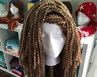 Crochet chemo yarn wig, hat