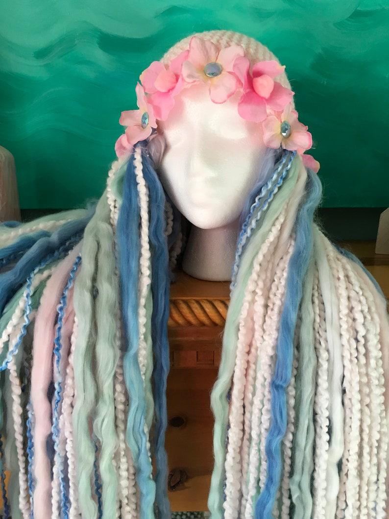 Fairy princess wig costume cosplay crochet yarn wig | Etsy