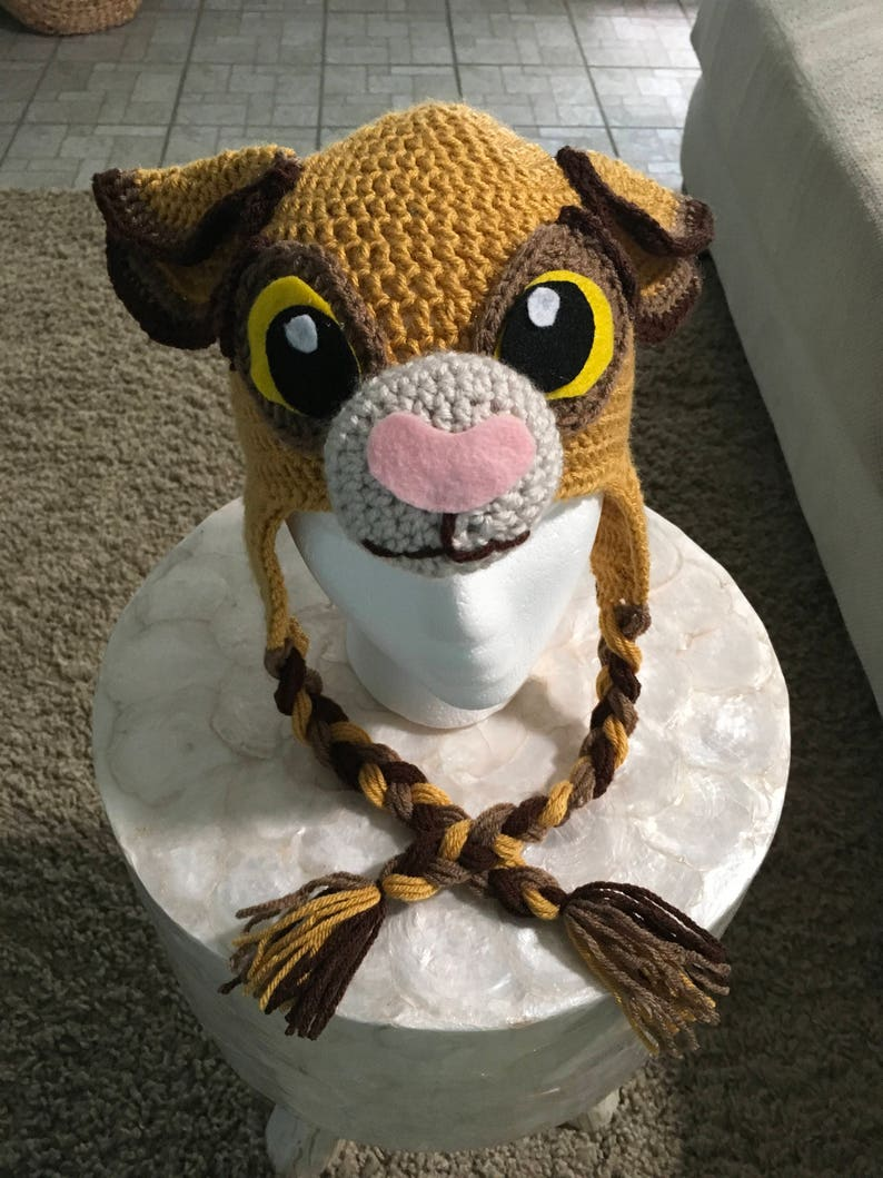 dc65ce399ebb6e Crochet Simba lion hat Disney character hat inspired by The | Etsy