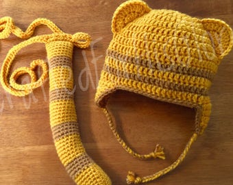 Daniel Tiger Costume - Hat and Tail Set