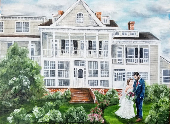 Live Wedding Painting Kent Manor Inn Stevensville Maryland Painter Ceremony Or Reception Painted Mother Of The Bride Or Groom Gift