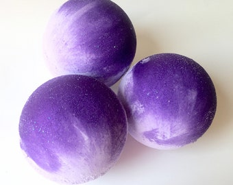 LILAC Bath Bomb Fizzy|Bath|Essential Oil|Lavender|Gift|Her|Him|Shower|Foaming|Idaho|Northwest|Wholesale|Large|Lilac