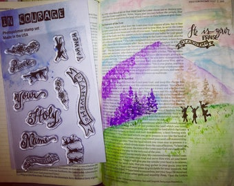 Holy Name Clear Stamp Set For Bible Journaling or Card Making