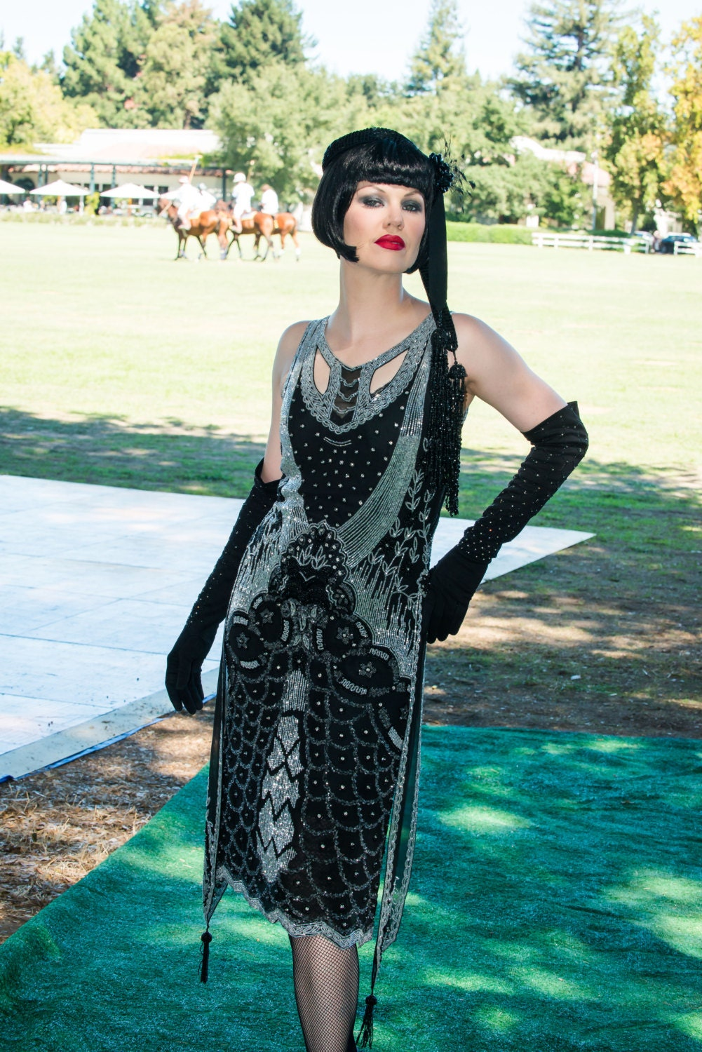 Flapper Dresses & Quality Flapper Costumes 1920s Style Edwardian Dress $495.00 AT vintagedancer.com