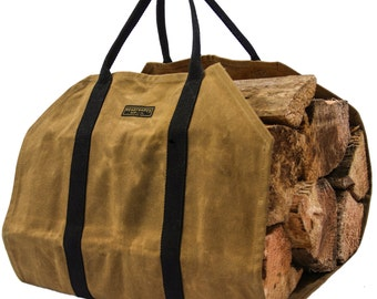 Readywares Waxed Canvas Firewood Carrier