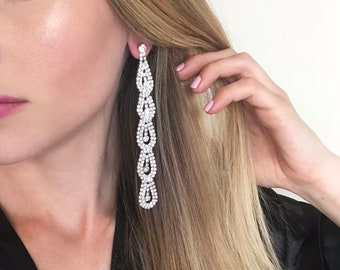 Hailey Clear Crystal NPC Bikini Fitness Competition Earrings