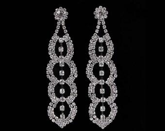 Grace Clear Crystal NPC Bikini Fitness Competition Earrings