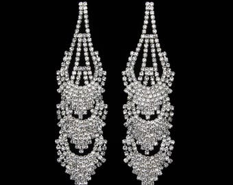 Callie Clear Crystal NPC Bikini Fitness Competition Earrings
