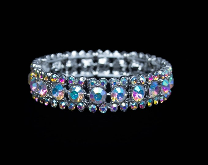 Maisie AB Crystal Competition Stretch Bracelet for NPC Bikini Fitness Bodybuilding Contests