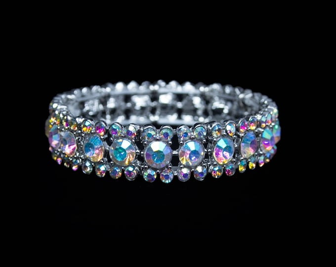 Maisie AB Crystal Competition Stretch Bracelet for NPC Bikini Fitness Bodybuilding Contests