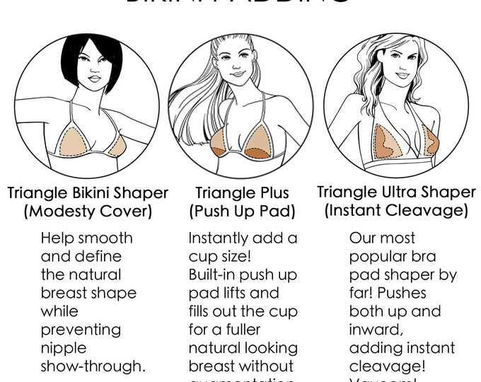 Triangle Bikini Shaper Pads - Competition Bikini Padding for IFBB & NPC Bikini Fitness Competition Posing Suits