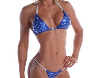 Royal Blue Competition Bikini - Medium Bling (NPC, WBFF, OPA)
