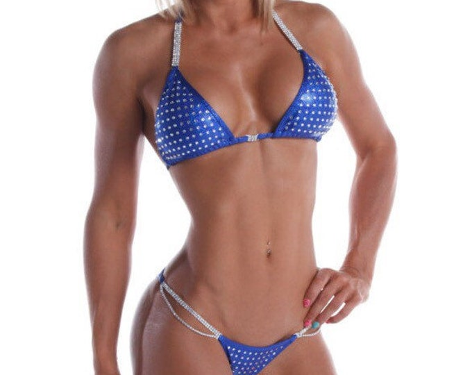 Royal Blue Competition Bikini - Medium Bling (NPC, WBFF, OPA)