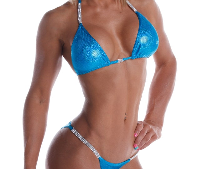Turquoise Competition Bikini (NPC, IFBB, WBFF)