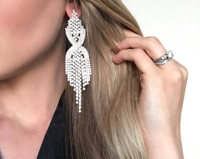 Sadie Clear Crystal NPC Bikini Fitness Competition Earrings