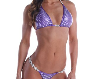 Violet Vixen - Purple Competition Bikini - Heavy Bling  (NPC, WBFF, OPA)