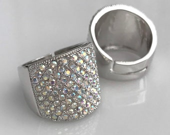 Livi Resizable Crystal Pave Ring for IFBB, NPC, and OCB Bikini Fitness Competitions
