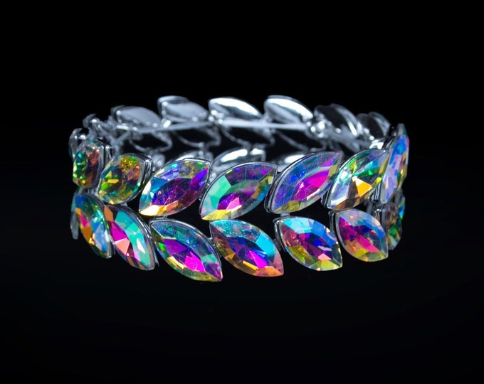 Jocelyn AB Crystal Competition Stretch Bracelet for IFBB and NPC Bikini Fitness Bodybuilding Contests
