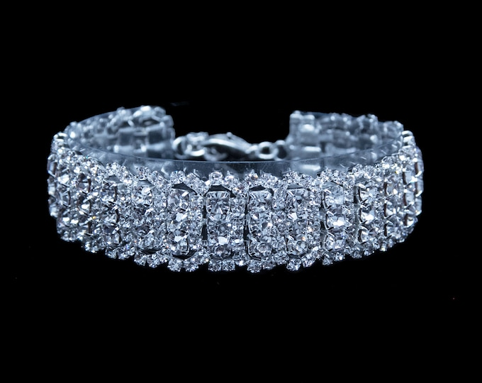 Claudia Clear Crystal NPC / IFBB Bikini Competition Bracelet