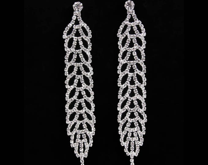 Natasha Clear Crystal NPC Bikini Fitness Competition Earrings