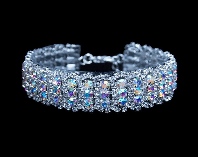 Claudia Clear and AB Crystal NPC / IFBB Bikini Competition Bracelet
