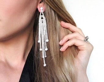 Olivia Clear Crystal NPC Bikini Fitness Competition Earrings