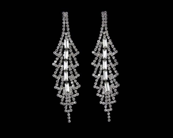 Aisha Clear Crystal NPC Bikini Fitness Competition Earrings