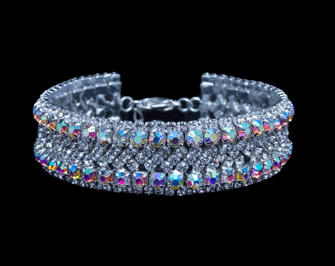 Alisha Clear and AB Crystal NPC / IFBB Bikini Competition Bracelet