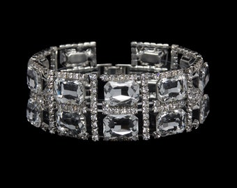 Ashley Clear Crystal Competition Bracelet for IFBB, NPC, and NANBF Bikini Fitness Bodybuilding Contests
