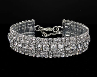 Blair Clear Crystal Competition Bracelet for IFBB, NPC, and NANBF Bikini Fitness Bodybuilding Contests
