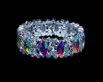 Avalon AB Crystal Competition Stretch Bracelet for NPC Bikini Fitness Bodybuilding Contests