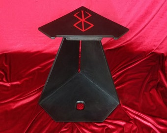 Magnetic heavyweight steel floor-standing display stand for Dragonslayer sword