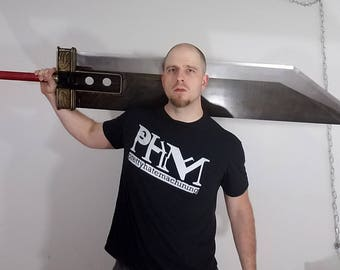 """Hardened steel full-scale Cloud Strife """"Crisis Core"""" style Buster Sword from Final Fantasy 7 (MADE TO ORDER)"""