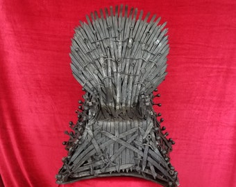 All steel 1:3 scale Iron Throne replica from Game Of Thrones (MADE TO ORDER)
