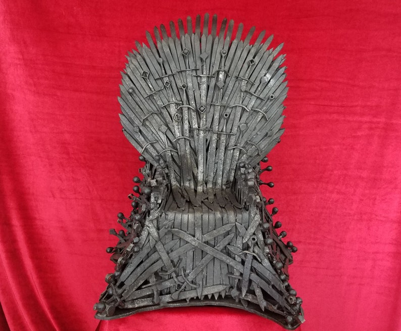 All steel 1:3 scale Iron Throne replica from Game Of Thrones image 0