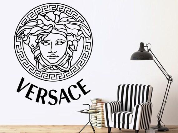 wall decal medusa versacel decals murals bedroom wall art | etsy