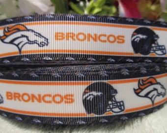 "3 yards 7/8"" inspired Broncos Grosgrain Ribbon"
