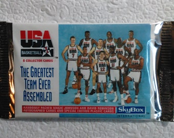 1992 Skybox USA Olympic Dream Team Factory Sealed 2 Packs Possible autograph cards Jordan Magic Johnson Dave Robinson NOS... SALE!