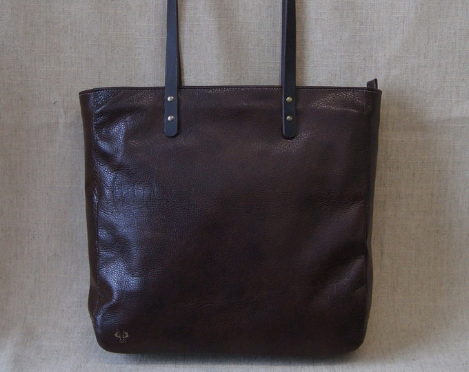 Cabas bag with zipper