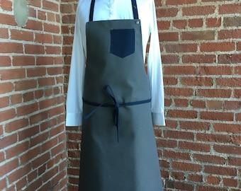 2 color apron, fabric