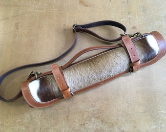Kniferoll cow leather and goat fur